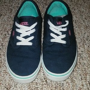 Girls navy blue and pink vans